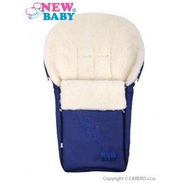 New Baby Luxusní fusák s ovčím rounem New Baby tmavě modrý