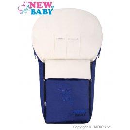 New Baby Luxusní fleecový fusák New Baby tmavě modrý