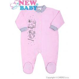 New Baby Kojenecký overal New Baby Kamarádi růžový