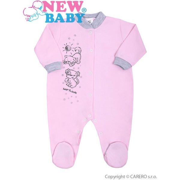 New Baby Kojenecký overal New Baby Kamarádi růžový Růžová