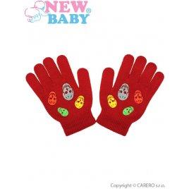 New Baby Dětské zimní rukavičky New Baby Girl oranžové