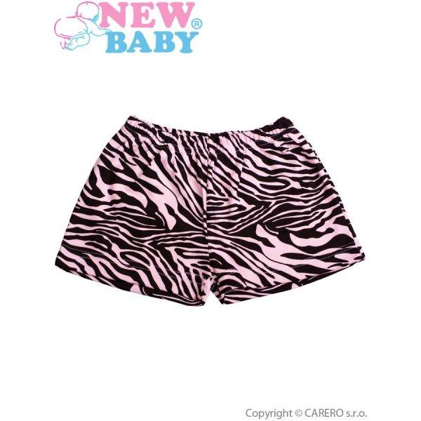New Baby Dětské kraťasy New Baby Zebra růžové Růžová