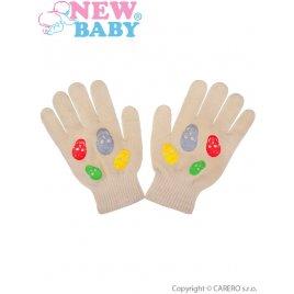 New Baby Dětské zimní rukavičky New Baby Girl béžové