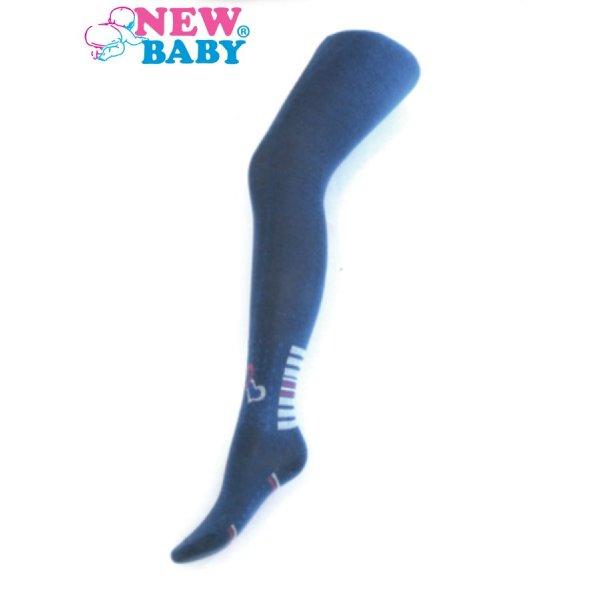 New Baby Bavlněné punčocháče New Baby modré se srdíčky Modrá