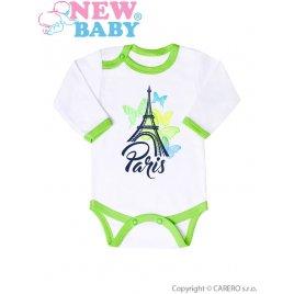 New Baby Kojenecké body s dlouhým rukávem New Baby Towns zelené