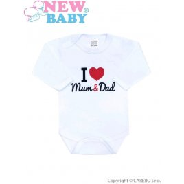 New Baby Body s potiskem New Baby I Love Mum and Dad