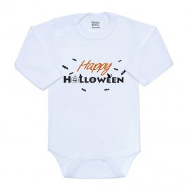 New Baby Body s potiskem New Baby Happy Halloween