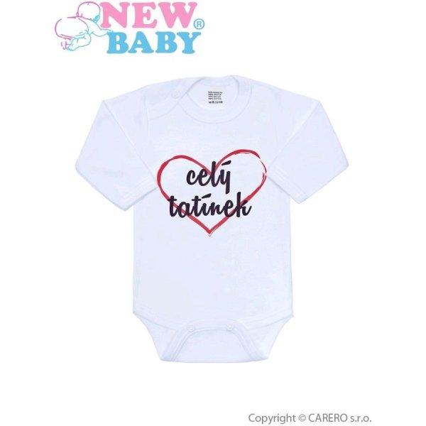 New Baby Body s potiskem New Baby celý tatínek Červená