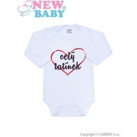 New Baby Body s potiskem New Baby celý tatínek