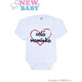 New Baby Body s potiskem New Baby celá maminka