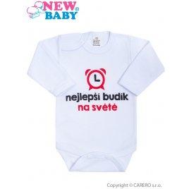 New Baby Body s potiskem New Baby nejlepší budík na světě