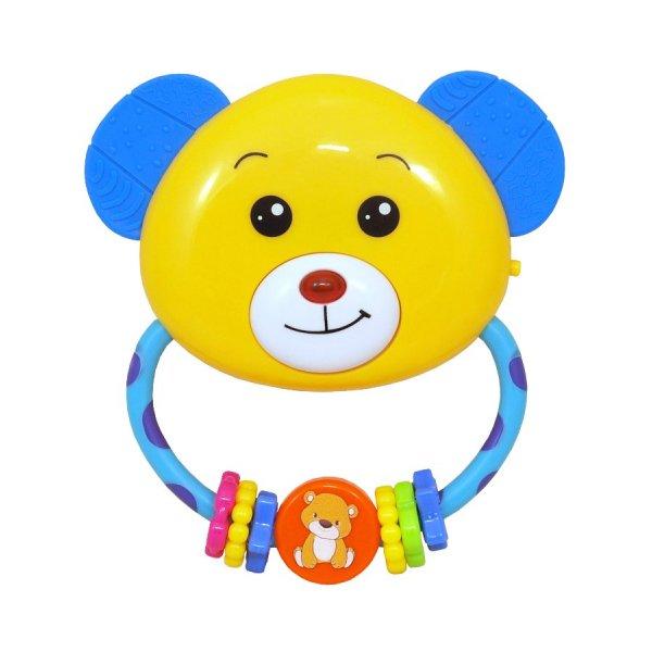 Baby Mix Dětské chrastítko s melodií Baby Mix medvídek Žlutá