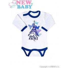 New Baby Kojenecké body s dlouhým rukávem New Baby Towns modré