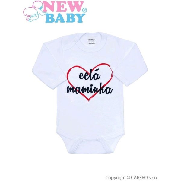 New Baby Body s potiskem New Baby celá maminka Červená