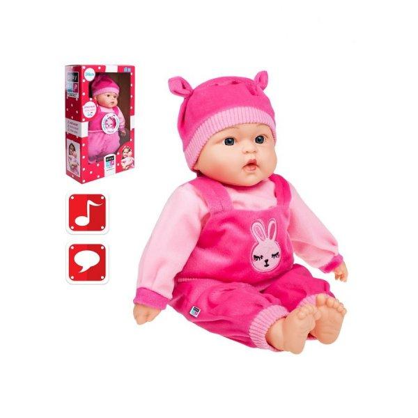 PlayTo Polsky mluvící a zpívající dětská panenka PlayTo Zosia 46 cm Růžová
