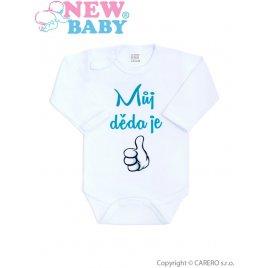 New Baby Body s potiskem New Baby Můj děda je jednička