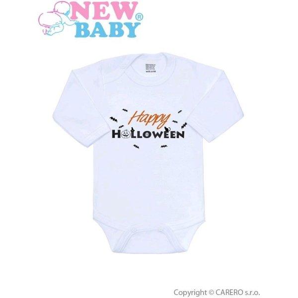 New Baby Body s potiskem New Baby Happy Halloween Oranžová