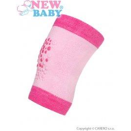 New Baby Dětské nákoleníky New Baby s ABS růžové
