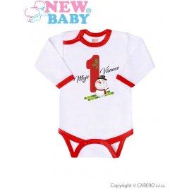 New Baby Body s potiskem New Baby Moje první Vánoce