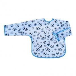Akuku Dětský bryndák s rukávky Akuku modrý s míči