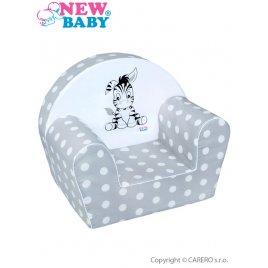 New Baby Dětské křeslo New Baby Zebra šedé