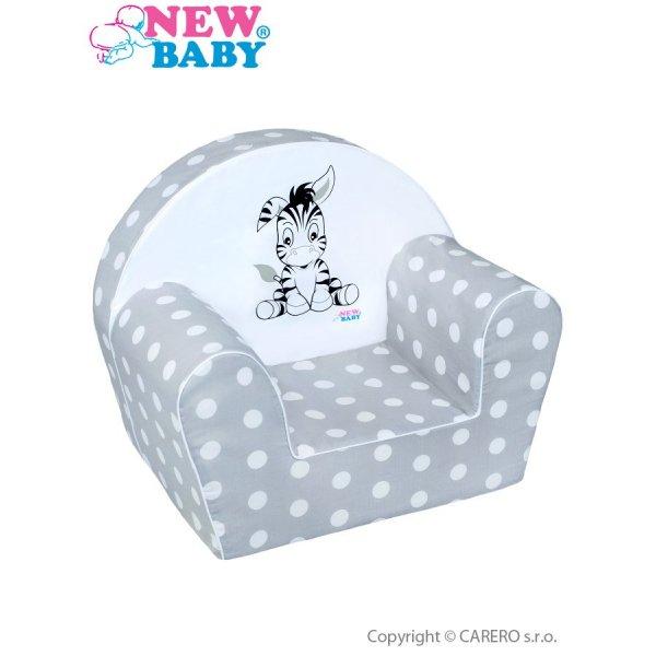 New Baby Dětské křeslo New Baby Zebra šedé Šedá