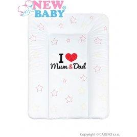 New Baby Přebalovací podložka měkká New Baby I love Mum and Dad bílá 70x50cm