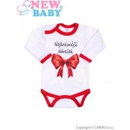 New Baby Body s potiskem New Baby Nejkrásnější dáreček
