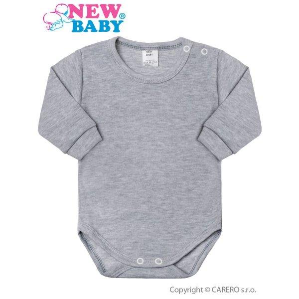 New Baby Kojenecké body s dlouhým rukávem New Baby šedé Šedá