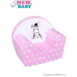 New Baby Dětské křeslo New Baby Zebra růžové
