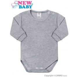 New Baby Kojenecké body s dlouhým rukávem New Baby šedé