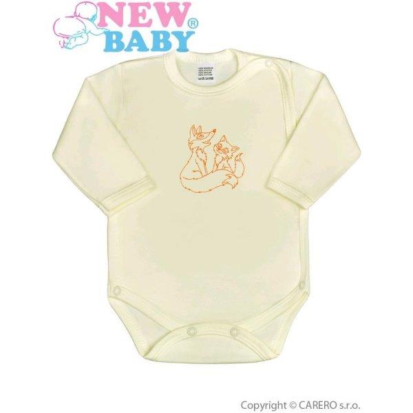 New Baby Kojenecké body celorozepínací New Baby Malá Zvířátka béžové Béžová