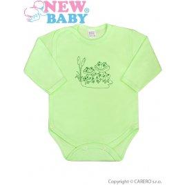 New Baby Kojenecké body celorozepínací New Baby Malá Zvířátka zelené