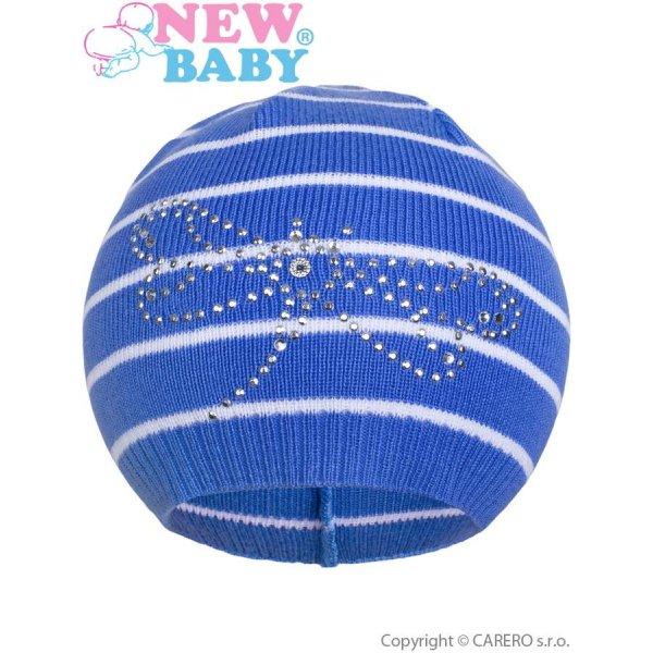 New Baby Jarní čepička New Baby vážka modrá Modrá