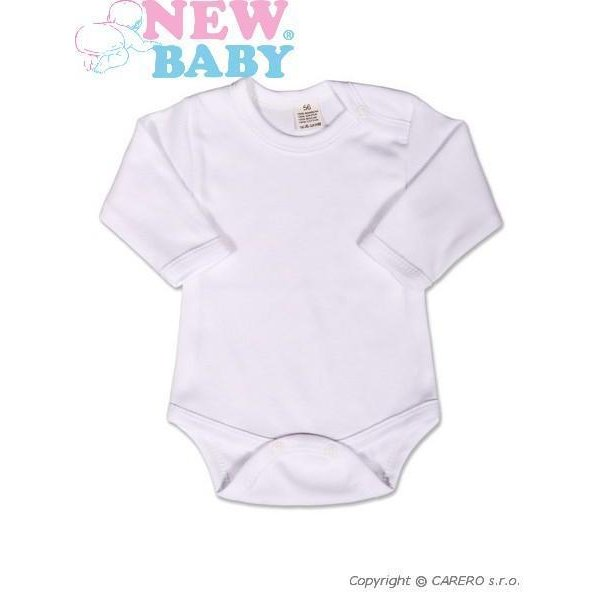 New Baby Body dlouhý rukáv New Baby - bílé Bílá