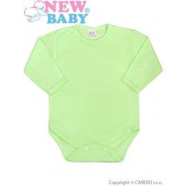 New Baby Kojenecké body celorozepínací New Baby Classic zelené