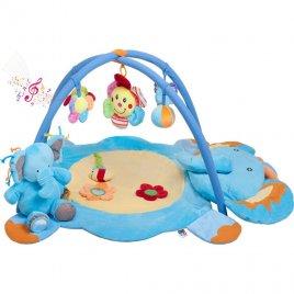 Playto Hrací deka s melodií PlayTo slůně s hračkou