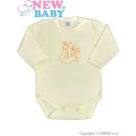 New Baby Kojenecké body celorozepínací New Baby Malá Zvířátka béžové