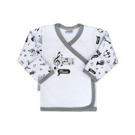 New Baby Kojenecká bavlněná košilka New Baby Music