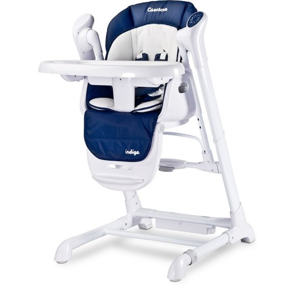 Caretero Dětská jídelní židlička 2v1 Caretero Indigo navy Modrá
