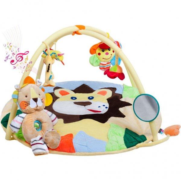 PlayTo Hrací deka s melodií PlayTo lvíče s hračkou Žlutá