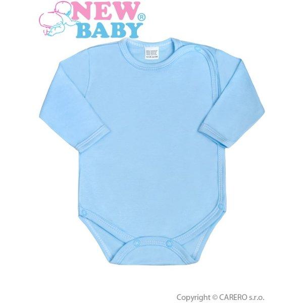 New Baby Kojenecké body celorozepínací New Baby Classic modré Modrá