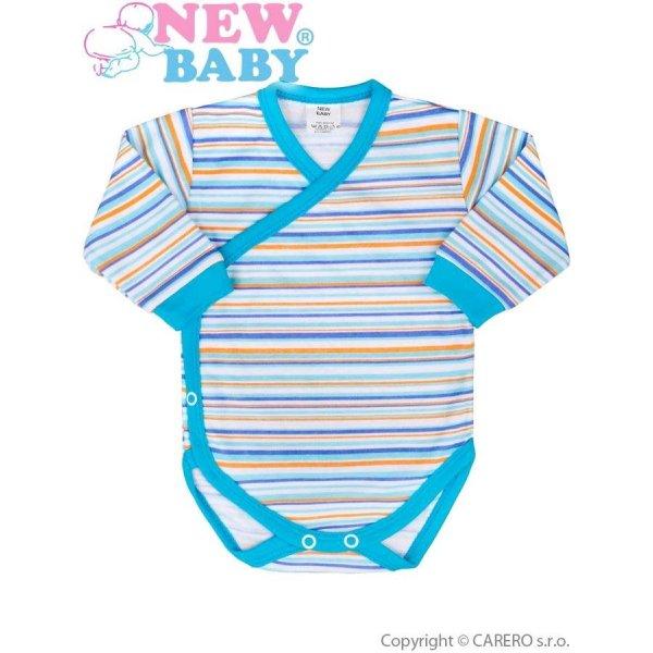 New Baby Kojenecké body s dlouhým rukávem celorozepínací New Baby Puppik 2 tyrkysové Tyrkysová