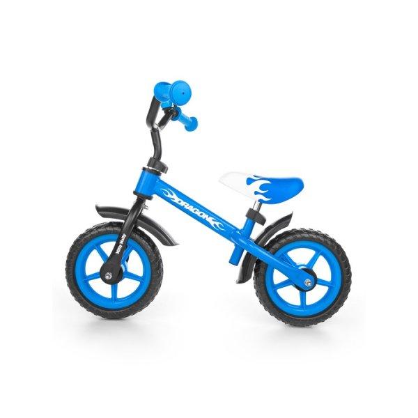 Milly Mally Dětské odrážedlo kolo Milly Mally Dragon blue Modrá