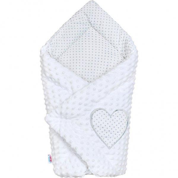 New Baby Luxusní Zavinovačka z Minky New Baby bílá 73x73 cm Bílá