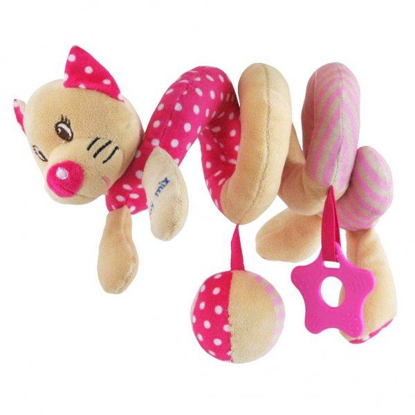 Baby Mix Hračka na postýlku Spirála Baby Mix Kočička růžová Růžová
