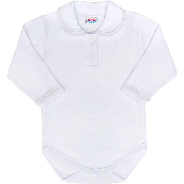 New Baby Luxusní bavlněné kojenecké body New Baby Princess bílé Bílá
