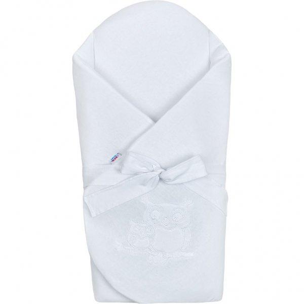New Baby Zavinovačka s mašlí a výztuží New Baby Sovičky bílá Bílá