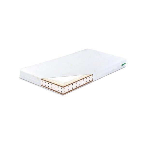 Sensillo Matrace Sensillo Memory termo-molitan-kokos 140x70 cm-Aloe Vera Bílá