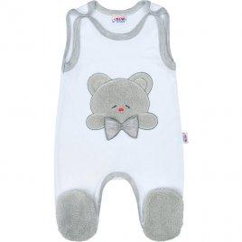 New Baby Luxusní kojenecké dupačky New Baby Honey Bear s 3D aplikací